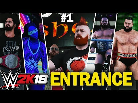 WWE 2K18: Superstars Entrance #1 (Rusev, Cesaro & Sheamus, Naomi , Neville, Rollins)[FR]