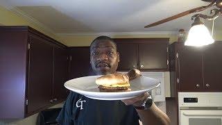 Frozen Breakfast Sandwich, Power Air Fryer Oven Elite Heating