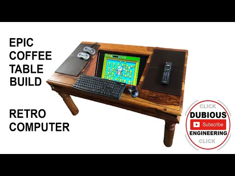 DuB-EnG: Coffee Table Computer Arcade Entertainment Machine for Retro Games Build Part 1