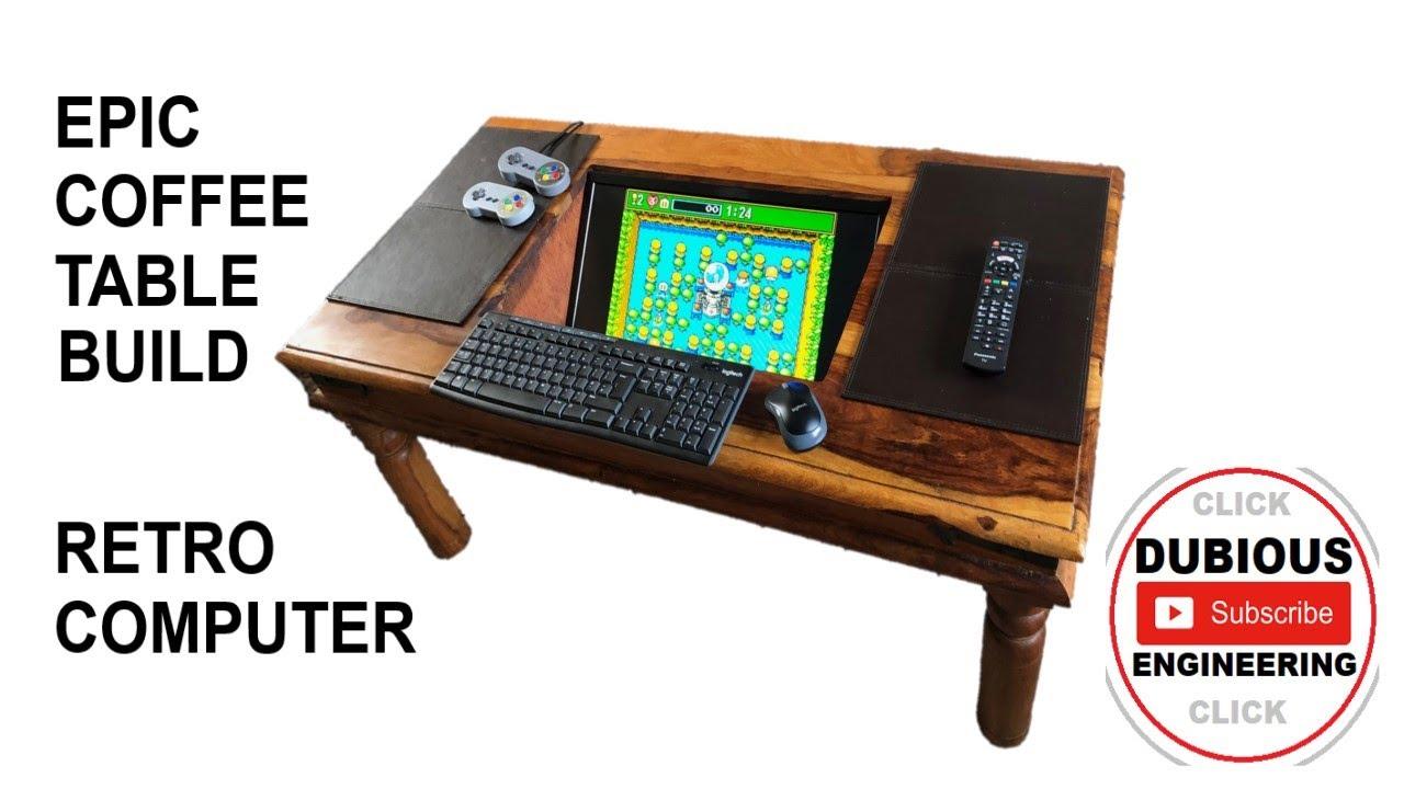 coffee table raspberrypi arcade machine