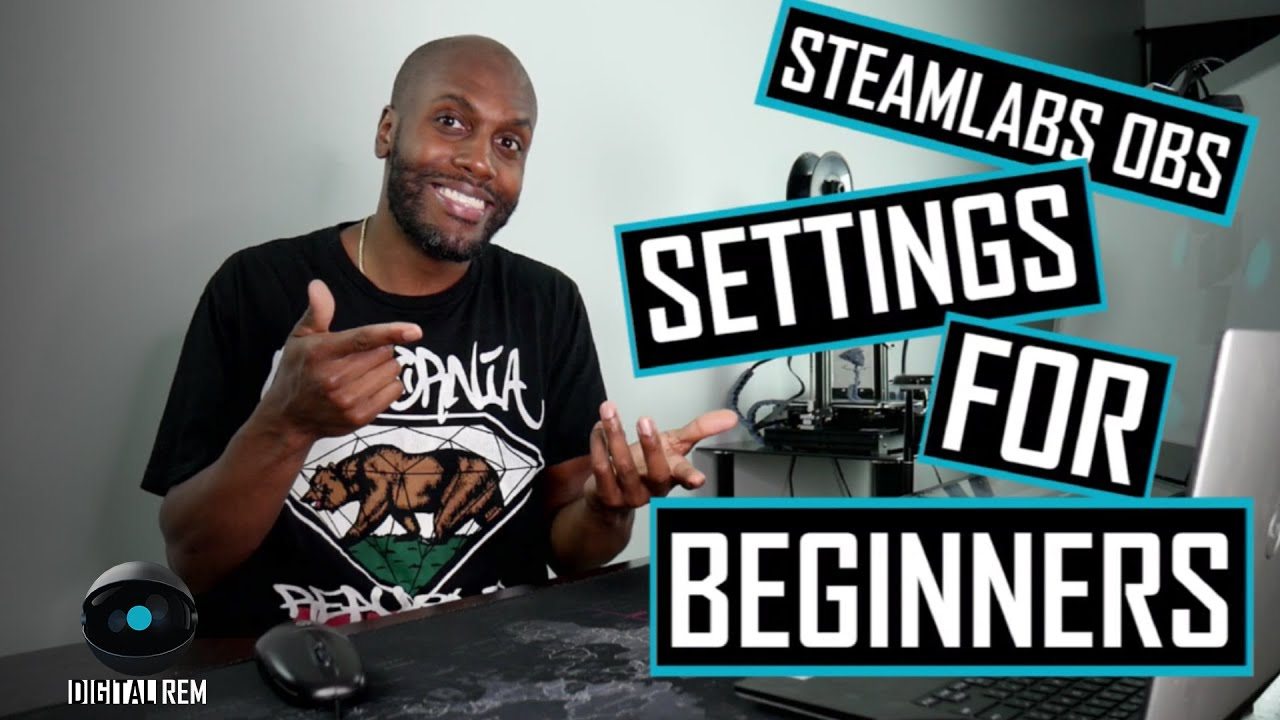Digital REM | Streamlabs OBS | Settings for Beginners | Laptop