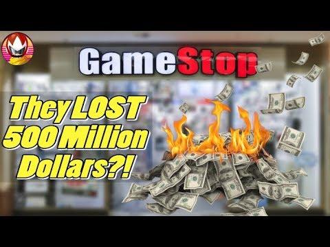 GameStop Lost Almost 500 Million Dollars - Stocks Plummet!