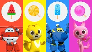 Learn Colors With Super Wings & Ice Cream, Mini Force & Candy For Babies Kids - LuLuPop TV