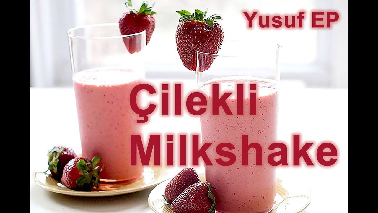 Ev Yapımı Çilekli Milkshake Videosu