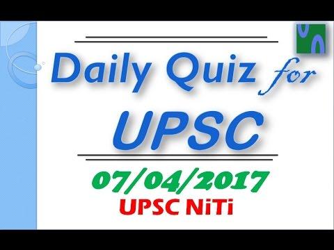 HINDI, 07 April 2017, MCQ FOR UPSC PRE EXAM, OPCW, CCTNS, GARV APP, SYRIA, BNHS,PIB