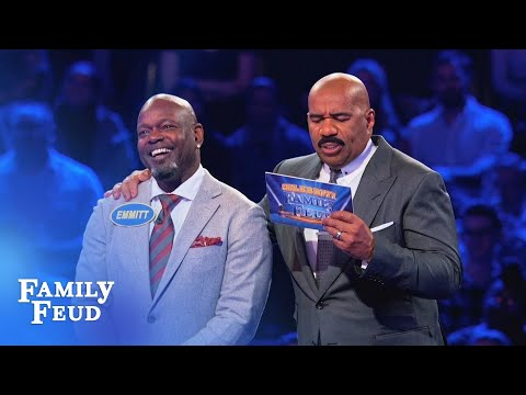 Emmitt Smith's $25,000 TOUCHDOWN! | Celebrity Family Feud