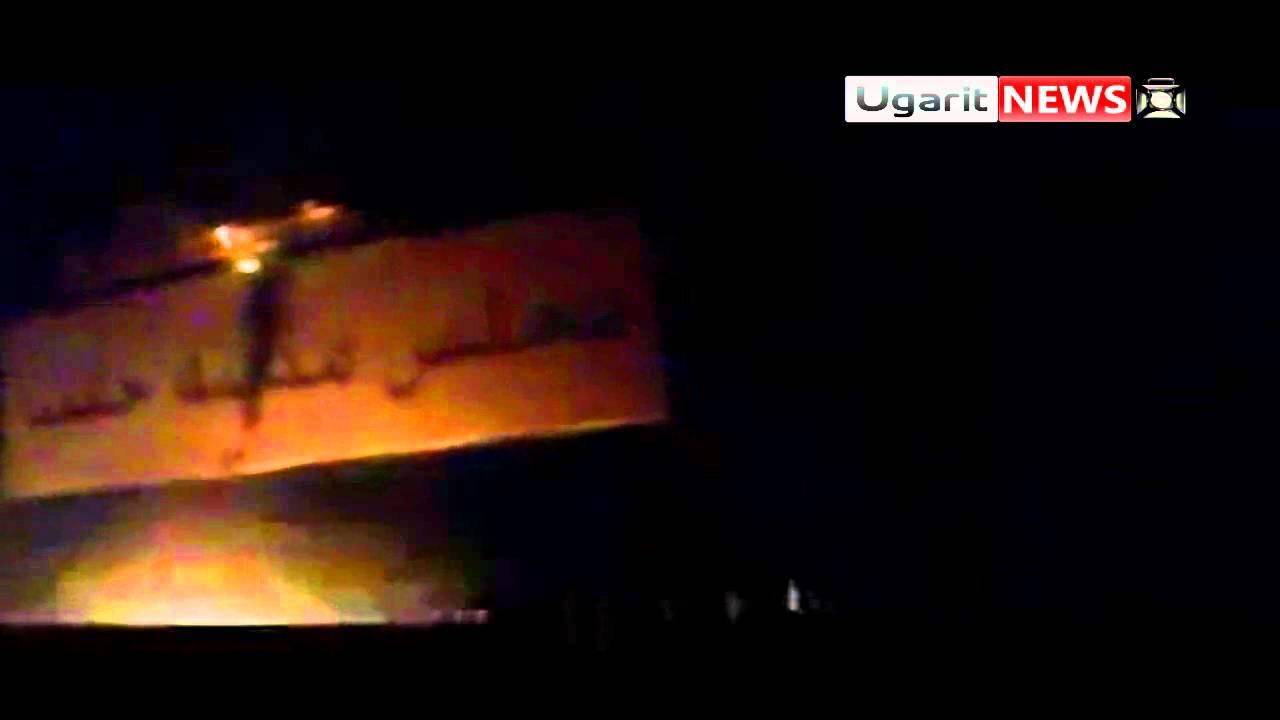 أوغاريت || احراق أول صورة لبشارعلى لوحة مجلس مدينة حلب