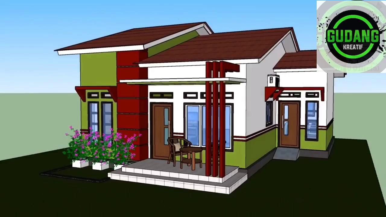 Desain Rumah Minimalis 8x10 Meter 3 Kamar Tidur Youtube