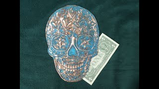 How to make a Sugar Skull from Hammered Copper