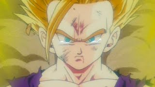 gohan goes ssj2 for the first time hd english dub original japanese song