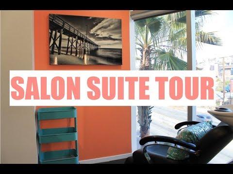 SALON SUITE TOUR!   SMALL SPACE STORAGE IDEAS   Brittney Gray