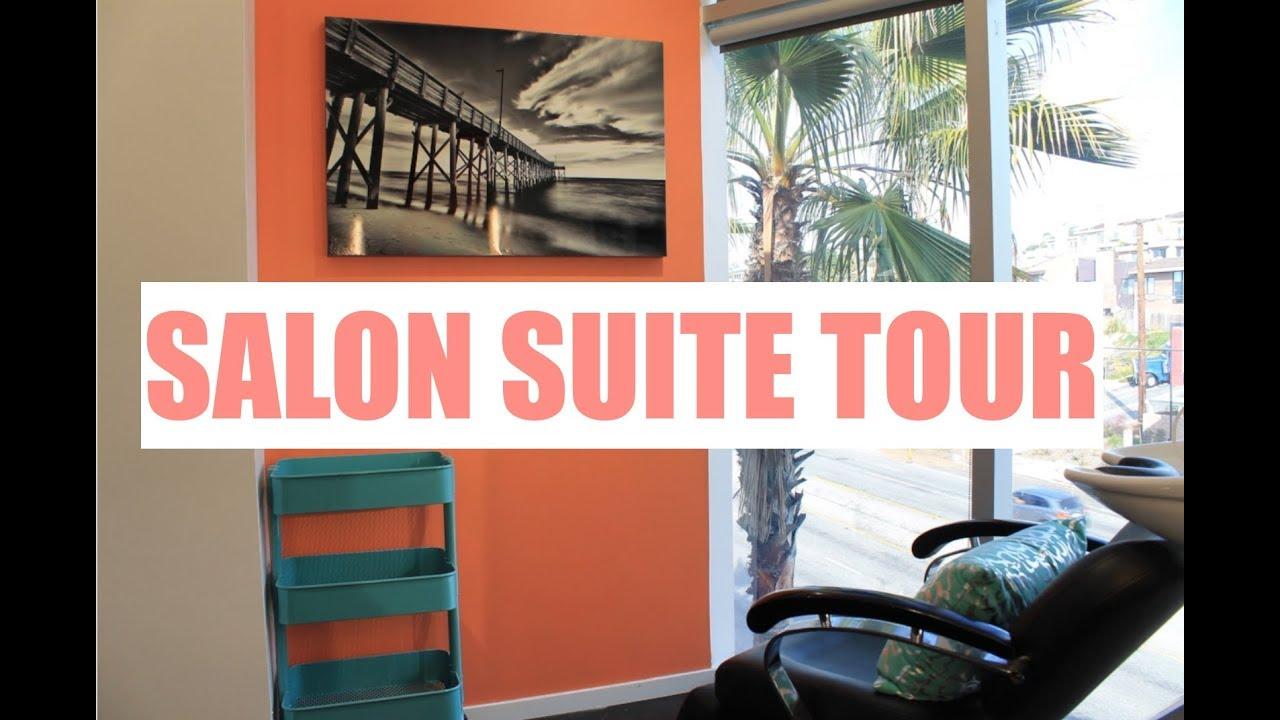 SALON SUITE TOUR! | SMALL SPACE STORAGE IDEAS | Brittney Gray - YouTube