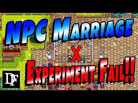 NPC Marriage Experiment Fail – Stardew Valley 1.3