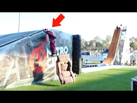 SOFA vs MEGA RAMP *Missed the landing*