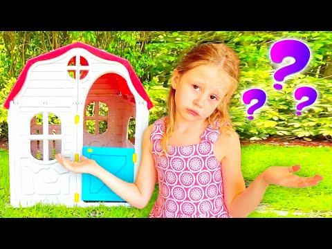 ناستيا تبحث عن بيت لعب جديد للأطفال