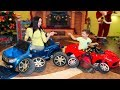 Funny Tema and Mom Play with toys and Assembling Power Wheels cars