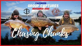 CARBONBAITS CARP FISHING CHASING CHUNKS NOVEMBER GROUP CAPTURES