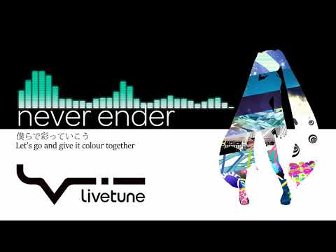Hatsune Miku - never ender (English subs) [kz/livetune]