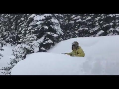 【#Deep Into Alberta 深入艾伯塔#】第10集《今天加拿大很寒冷!跟我穿上大脚鞋,去高山上1米4深的雪地,飘在雪面上去徒步》