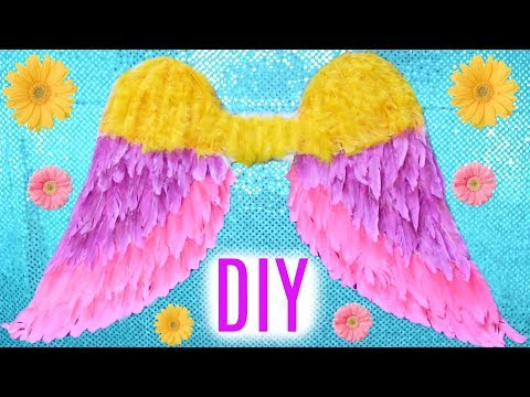 How To Make Bright, Colorful, Ombre Angel Wings