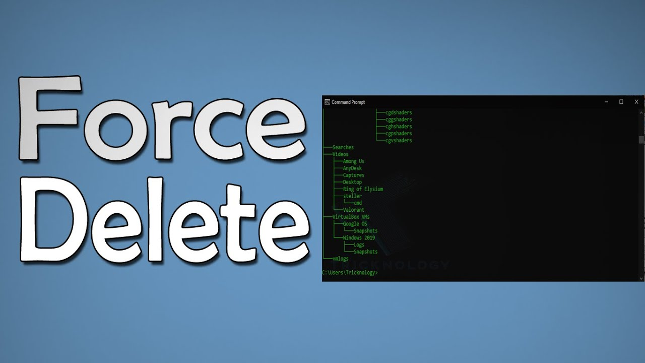 How To Force Delete File or Folder in Windows 10 Using CMD