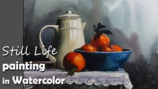 Painting A Realistic Still Life in Watercolor | Episode-2