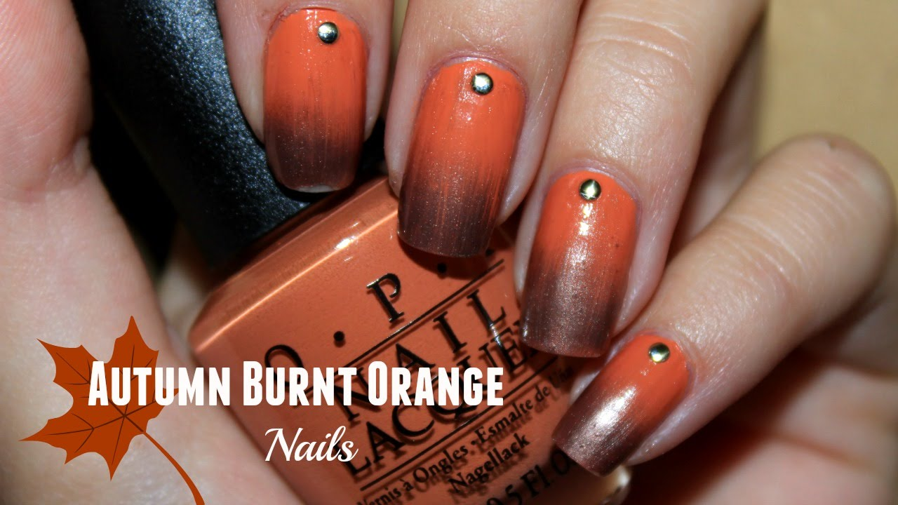 Burnt Orange Autumn Manicure | Princess & the Polish | Collab with ...