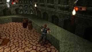 Deathtrap Dungeon (PSX) - gameplay (giant rat)