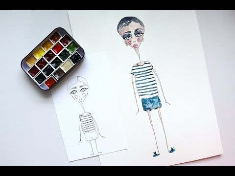 Boy Character Illustration | Watercolour Tutorial