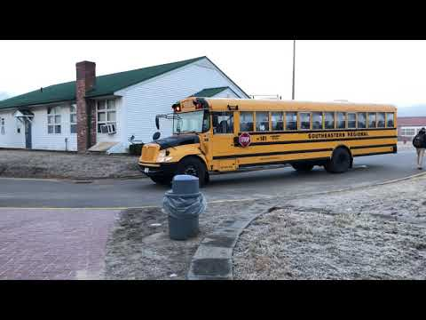 Buses Pulling Into SERSD | SERSD / Lucini Bus Lines