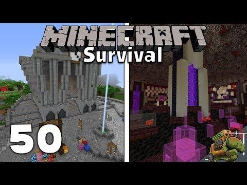 World Tour/Download & Nether Hub Build (MEGA EPISODE) | Minecraft Let's Play | Season 1 Episode 50