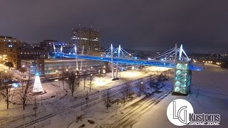 Drone Footage of the Davenport Skybridge