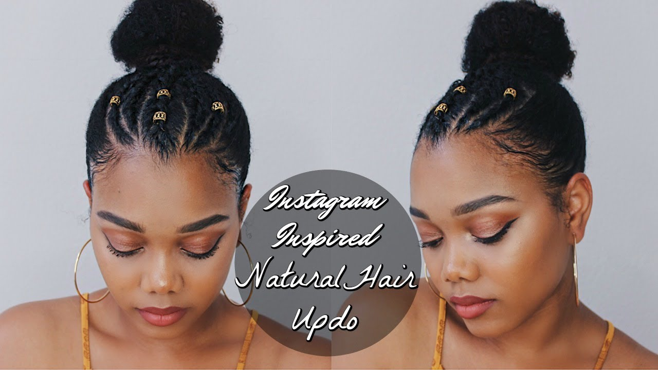 Trendy Instagram Inspired Natural Hairstyle Ft Creme Of Nature