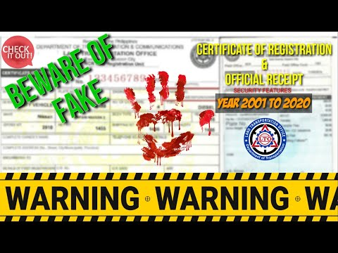 LTO: CERTIFICATE OF REGISTRATION | OFFICIAL RECEIPT | HOW TO CHECK IF LEGIT | BE INFORMED | BE SMART