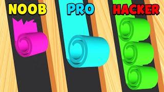 NOOB vs PRO vs HACKER - Color Roll 3D screenshot 2