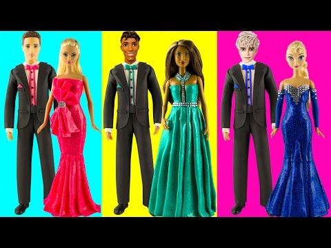 Play doh disney princess dresses Frozen Elsa Aurora Tiana play doh princess videos