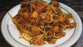 Mixed Vegetables Sabzi  Mushroom, Arbi, Mung Bean Sprouts  Vegan Recipe