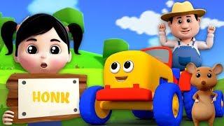 Тракторы Колеса Объехать Мультфильмы Для Детей Детские Стишки Tractors Wheels Go Round Song