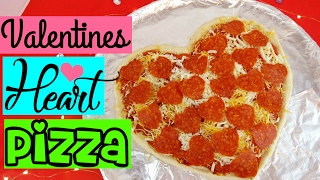 Heart Shaped Valentines Pizza