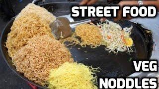 Индийская уличная еда. Вегетарианская лапша | Indian street food. Veg noodles