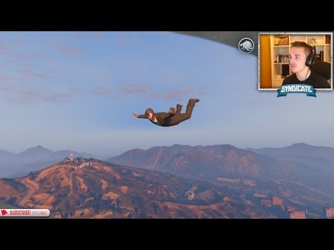 Justice! The Batcave & Skydiving! - Grand Theft Auto 5