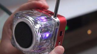 Gambar cover Multifunction Mini Digital Portable Music MP3/4 Player Micro SD/TF USB Disk Speaker FM Radio