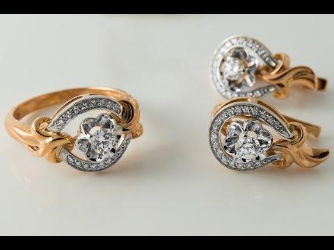 Золотые серьги с топазом Лондон блю и бриллиантами код 9646 - YouTube
