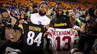 Odell Beckham Jr Enjoys Antonio Brown's TD Celebration