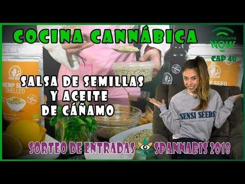 RECETA de COCINA CANNÁBICA: Cómo hacer PESTO con aceite de cannabis y semillas de marihuana. NOW 30