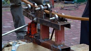 ТРУБОГИБ самодельный ручной для профильной трубы ( tube bender )(Самодельный трубогиб за день отогнули 50 профельних труб длина каждой 6 метров. приблизительное прокачивани..., 2015-02-27T18:22:19.000Z)