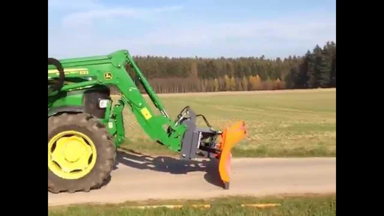 Traktor schneeschild euro aufnahme an frontlader youtube