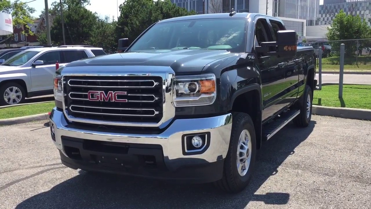 2017 gmc sierra 2500hd sle 4wd z71 suspension dark slate metallic oshawa on stock 171783 youtube. Black Bedroom Furniture Sets. Home Design Ideas