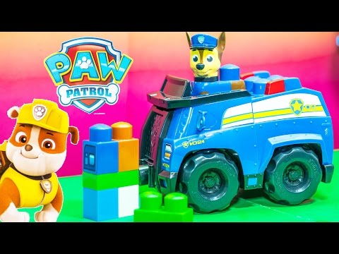 Unboxing the Paw Patrol Chase Blocks Cruiser at the Lookout Tower Toys