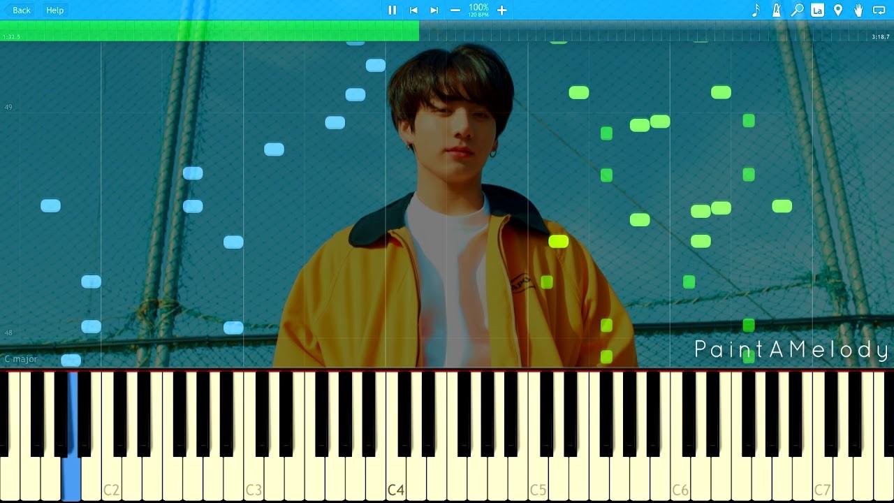 BTS (방탄소년단) Euphoria : Piano Tutorial [Sheet Music]